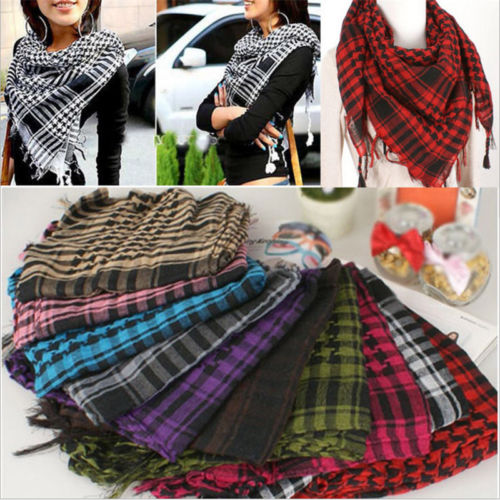 Fashion Latest Women Men Unisex Arab Shemagh Keffiyeh Palestine   Scarf   Shawl   Wrap     Scarves