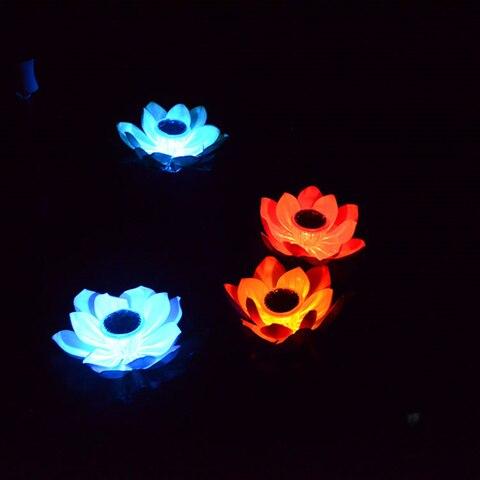 lotus jardim flutuante piscina decoracoes iluminacao ao ar livre