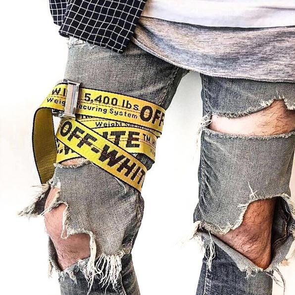 883542783c29 OFF WHITE Belts Men Extend Long Fashion Silver Yellow Belt Women Hip hop  Streetwear Skateboards Virgil Abloh Industrial Man