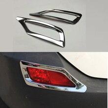 Chrome задняя противотуманная противотуманных фар Крышка лампы отражатель набор для отделки для Toyota RAV4 2013 2014 2015 RAV 4 Аксессуары Укладка
