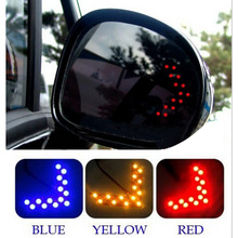 2 Pcs/lot 14 SMD LED Arrow Panel Car Styling For Car Rear View Mirror Indicator Turn Signal Light Car LED Rearview Mirror Light