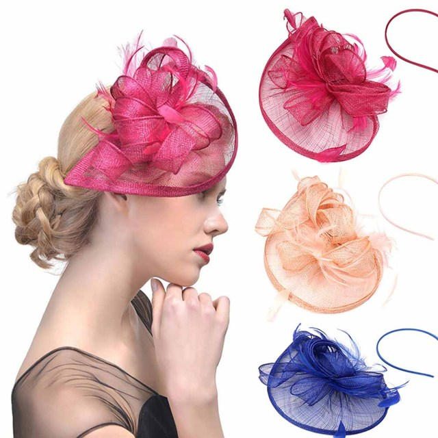 3fcab34fc6718 Large Headband Clip Hat Fascinator Weddings Ladies Day Race Royal Ascot