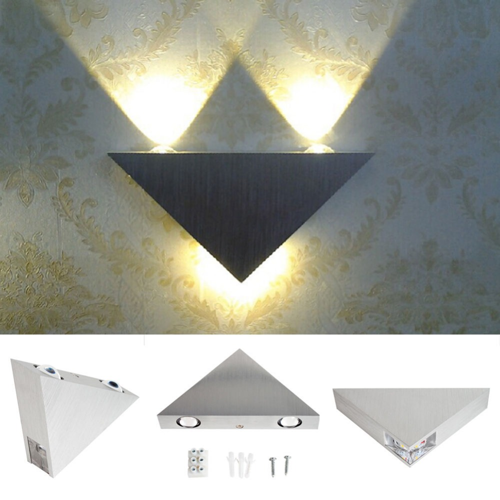 Aluminum Modern Wall Sconce Triangle Designed 3w LED wall light decoration Home lighting AC85-265V Wall mounted