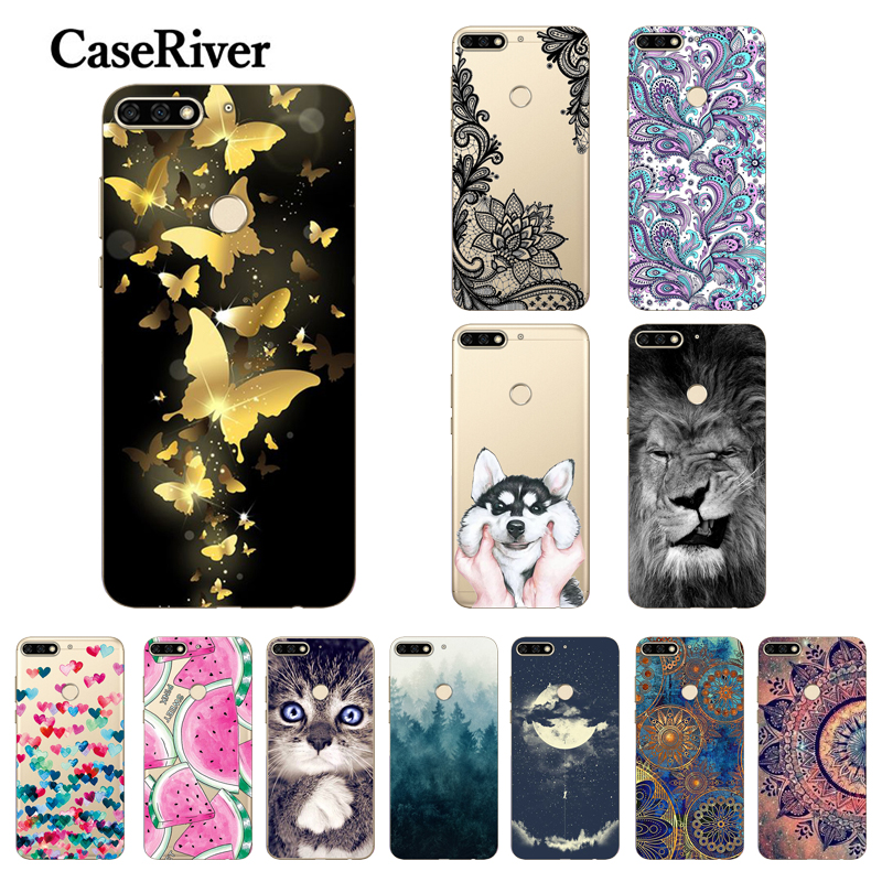 Huawei Y6 Prime 2018 Case TPU Transparent Printing Soft Silicone Cover Phone Back Case For Huawei Y6 Prime 2018 5.7 inch Cases