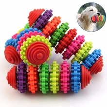 New Qualified Colorful Rubber Pet Dog Puppy Dental Teething Healthy Teeth Gums Chew Toys Levert Dropship dig1213