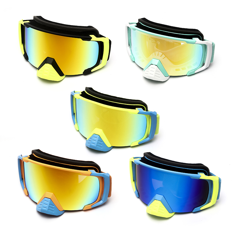 Triclicks Motorcycle Protective Gears Glasses Unisex Adult Glasses Flexible Cross Country Helmet Face Mask Motocross Goggles New