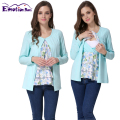 Emotion Moms Long Sleeve Maternity Clothes Maternity Top Nursing T-shirt for pregnant women Breastfeeding Tops False 2 Pieces