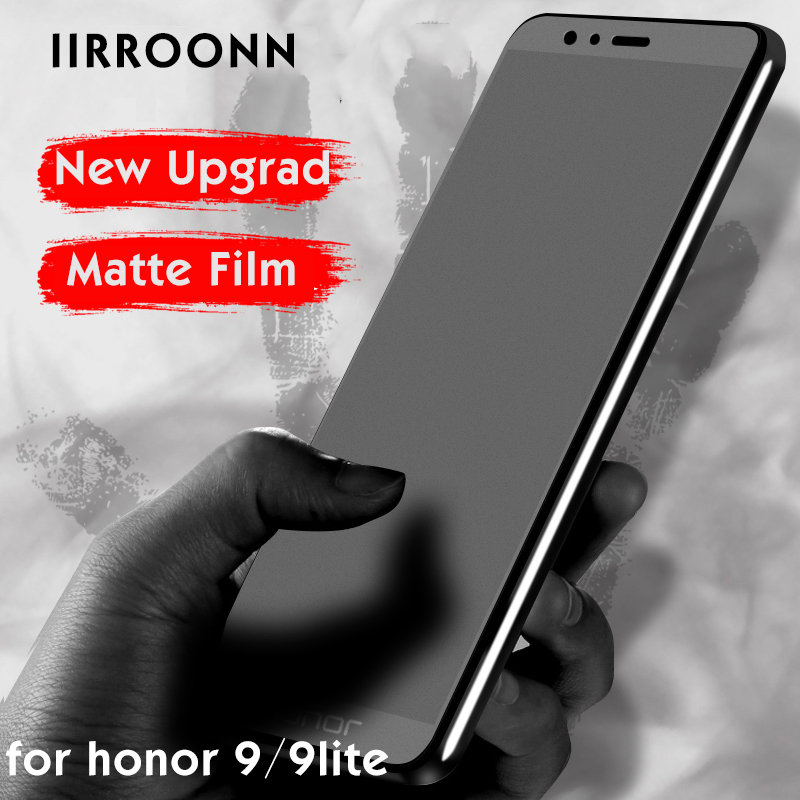 IIRROONN Screen-Protector Matte Honor 9-Lite Tempered-Glass 10-Protective-Film glass-On