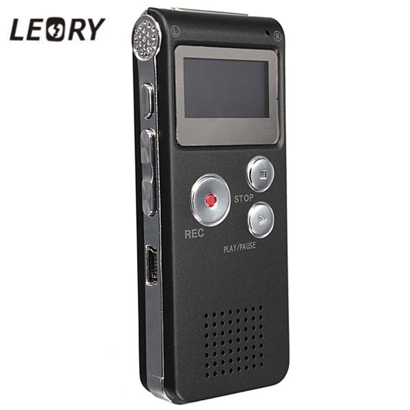 LEORY font b Best b font 8GB Mini Digital Audio Voice Recorder Dictaphone MP3 Player Recording