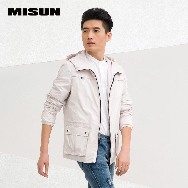 ̿̿̿(•̪ )Misun 2018 primavera chaqueta con capucha manga costilla ...