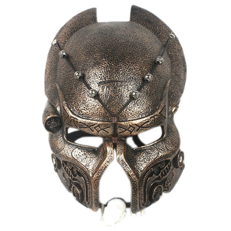High Quality Movie Theme Alien vs. Predator Mask Resin Cosplay Helmet Makeup Party Halloween Mask Collectibles Home Decor L415 future warrior mask breathable full face mask terminator helmet halloween cosplay horror human skeleton helmet halloween props