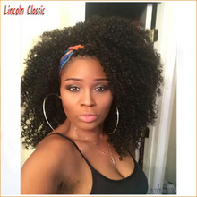 2016 New Natural Short Afro Kinky Curly Wig Lace Front Mongolian Virgin Human Hair Afro Kinky Curly Lace Front Wigs Glueless Cap