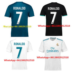 ece51f6969d AAA 2017 HOT SALES EUR 2018 TOP football jerseys QUALIT SHORT REALED  MADRIDED ADULT SOCCER JERSEY 17 18 HOME AWAY 3RD MEN SHIRT