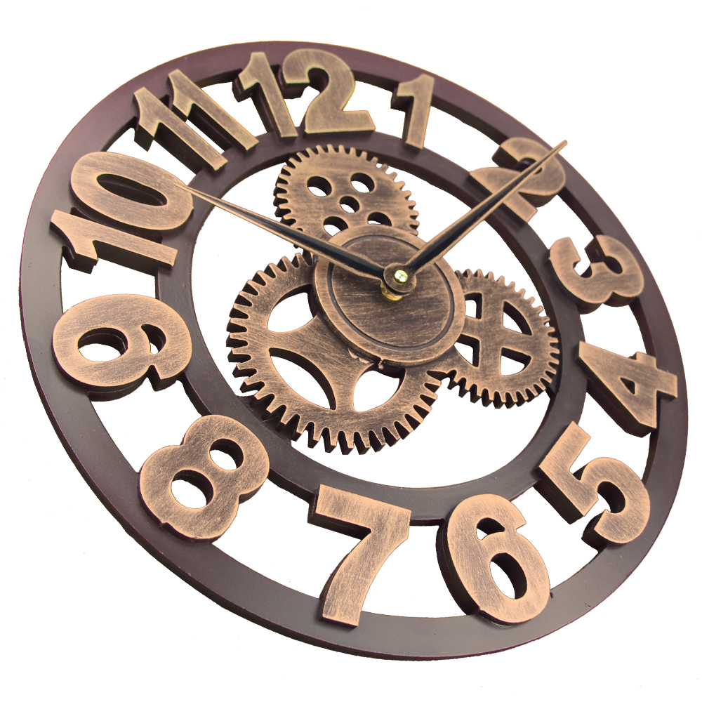 Impressive 2018 Art Large Gear Wall Clock Handmade Retro Rustic Decorative Wallwatch Luxury Wooden Vintage Clock Art Wall Clocks From Home 2018 Art Large Gear Wall Clock Handmade Retro Rustic Decorati furniture Gear Wall Clock