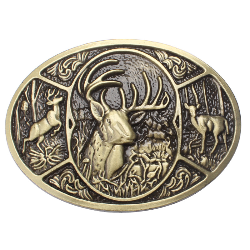Animal Deerskin Buckles Fashion Factory Direct Sale