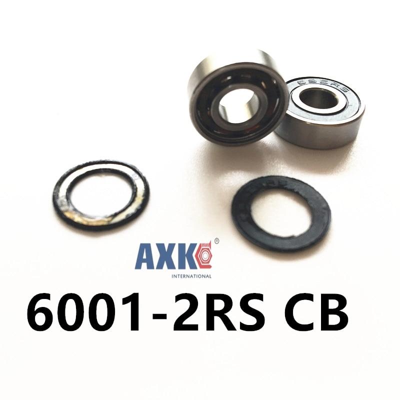 Free shipping 6001-2RS CB  6001 hybrid ceramic deep groove ball bearing 12x28x8mm elvan потолочная люстра elvan lu00110 5a