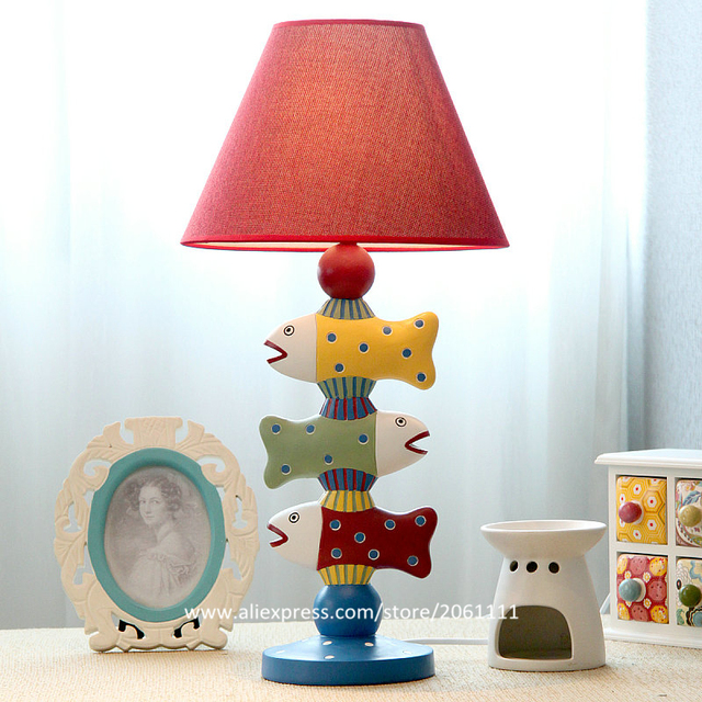 European Mediterranean Creative Fashion Fish Design Dimmable Table - Childrens bedroom table lamps