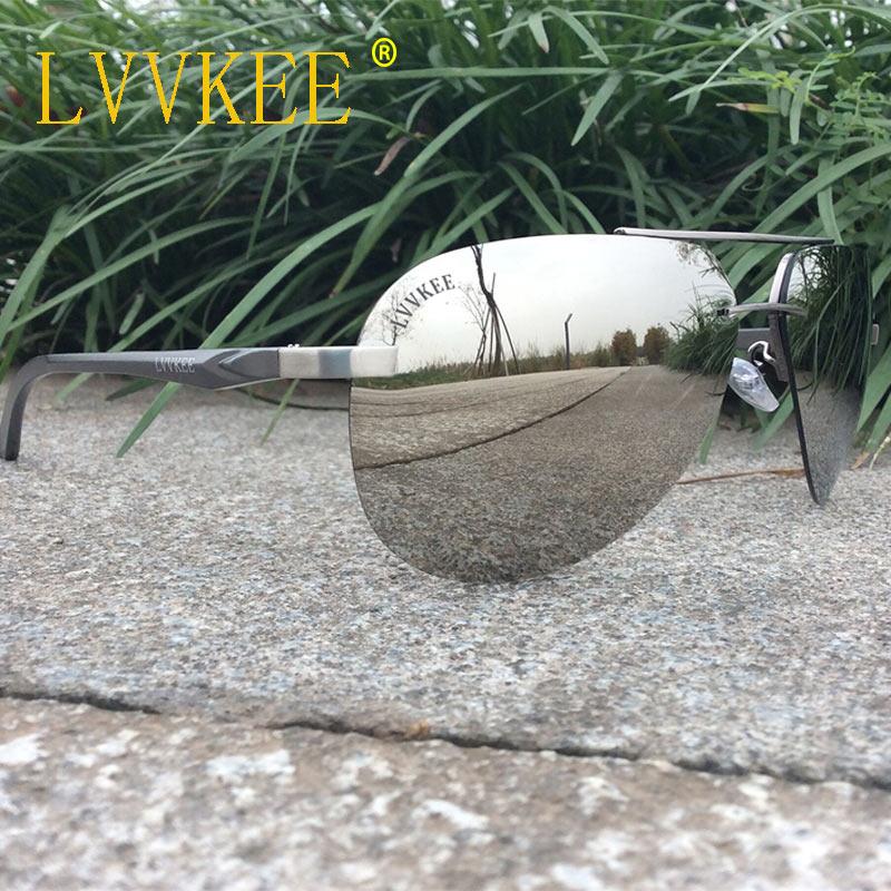 LVVKEE marka mężczyzna HD spolaryzowane lustrzane okulary - Akcesoria odzieżowe - Zdjęcie 3
