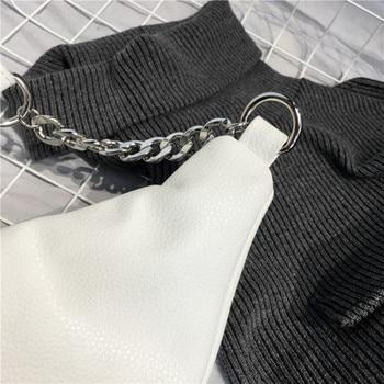 Chain PU Leather Waist Bag  4