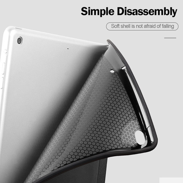 ZNP For iPad Air 2 1 Case 2018 9.7 Funda Silicone Soft Back Slim Pu Leather Smart Cover Case for iPad 2018 6th generation Case