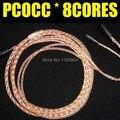100% original atualize cabo PCOCC/detach/substituir cabo de 8 núcleos, para IE80/TF10/UM3x/SE535 fone de ouvido earbud