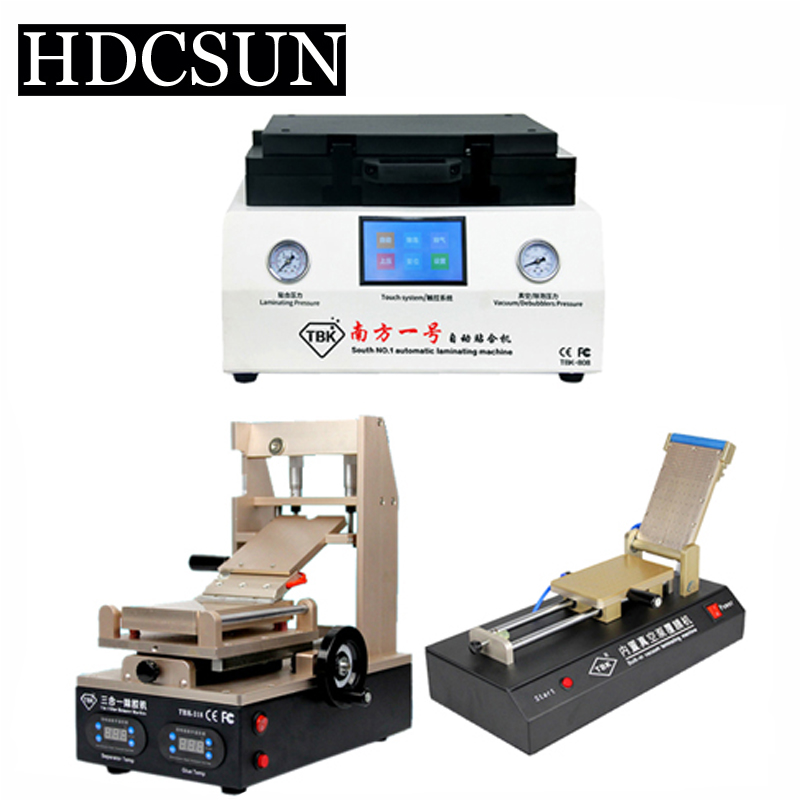 TBK LCD repair equipment 3 in 1 glue remove machine+ tbk-808 OCA Vacuum Laminator Machine+OCA Film Laminating Machine new arrival ko no 1 oca vacuum laminating machine refurbish repair oca laminator lcd lamination machine for 7 phone screens
