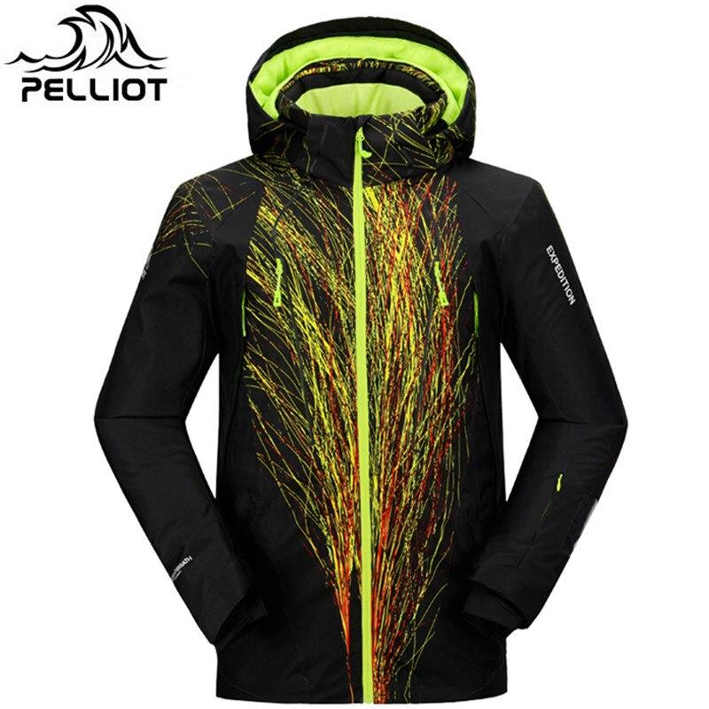 Pelliot Marque veste de ski Hommes Étanche Chaud de Neige D'hiver Veste Mâle Super Respirant En Plein Air Montagne Ski Costume manteau de ski