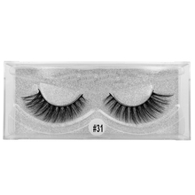 SHIDISHANGPIN  1 pairs eyelashes thick mink lashes hand made 3D false makeup box extension