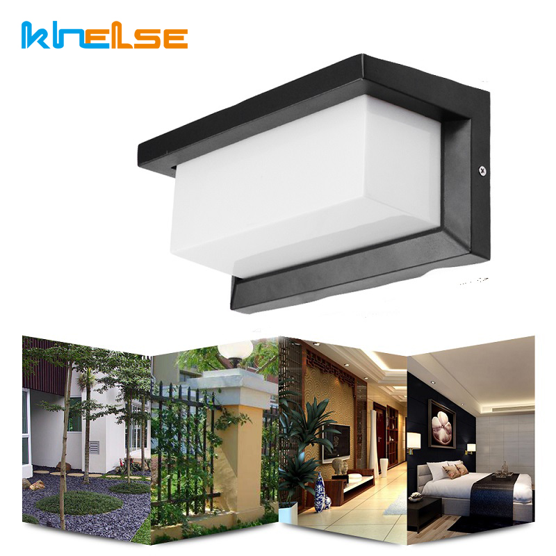 ip66 18w luz conduzida da parede impermeavel varanda luz moderno levou lampada de parede sensor de
