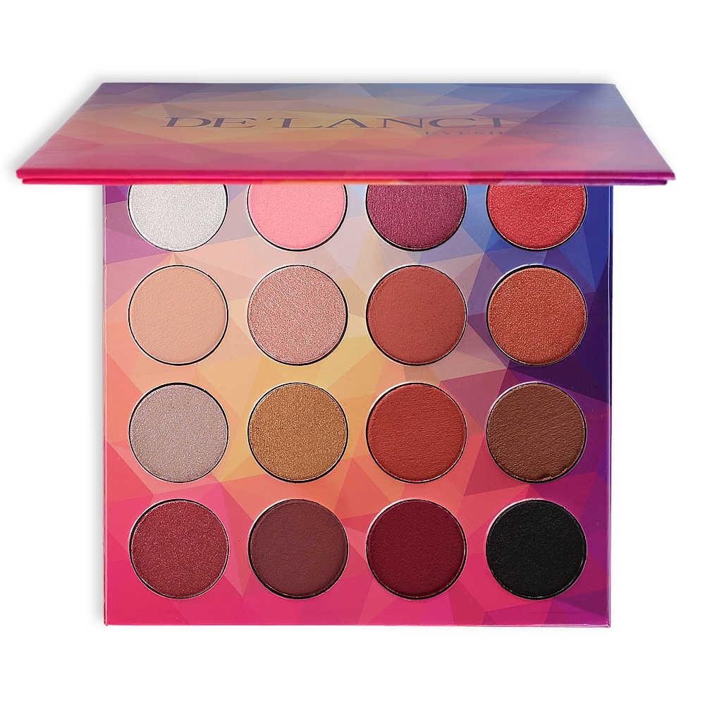 DE'LANCI 16 couleurs fard à paupières Palette de maquillage nue en poudre pour la beauté