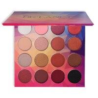 DE'LANCI Marca 16 Colores Paleta de Sombra de ojos Mate Diamante Brillo Húmedo En Polvo de Sombra de Ojos Paleta de Maquillaje de Belleza