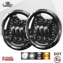 CO LIGHT 7 inch 180W LED Headlight 6D Led DRL Hi/Lo 12V Car Driving Light for Jeep Wrangler Land Rover Lada Niva 4x4 6500K 3500K