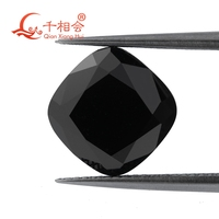 black color cushion shape dia mond cut Moissanite material loose stone