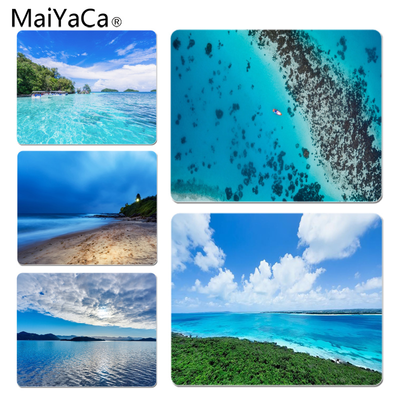 MaiYaCa Cool New Blue Sea Laptop Gaming Mice Mousepad Size for 180x220x2mm and 250x290x2mm Rubber Mousemats