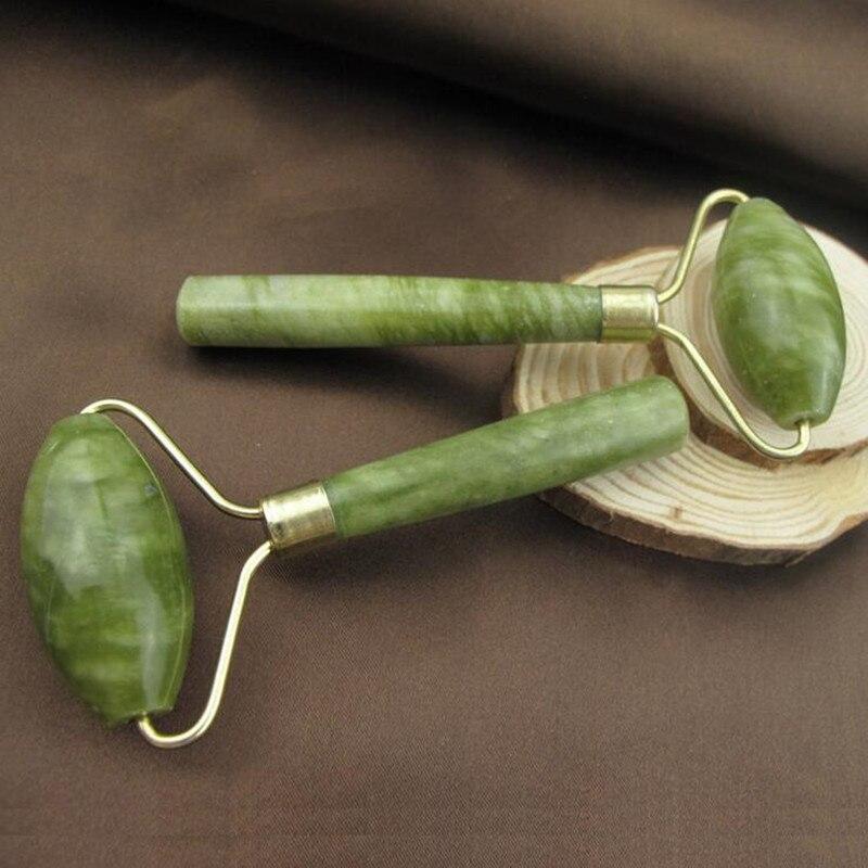 2stk Set Bærbar Praktisk Jade ansigtsmassage Roller Anti-9907