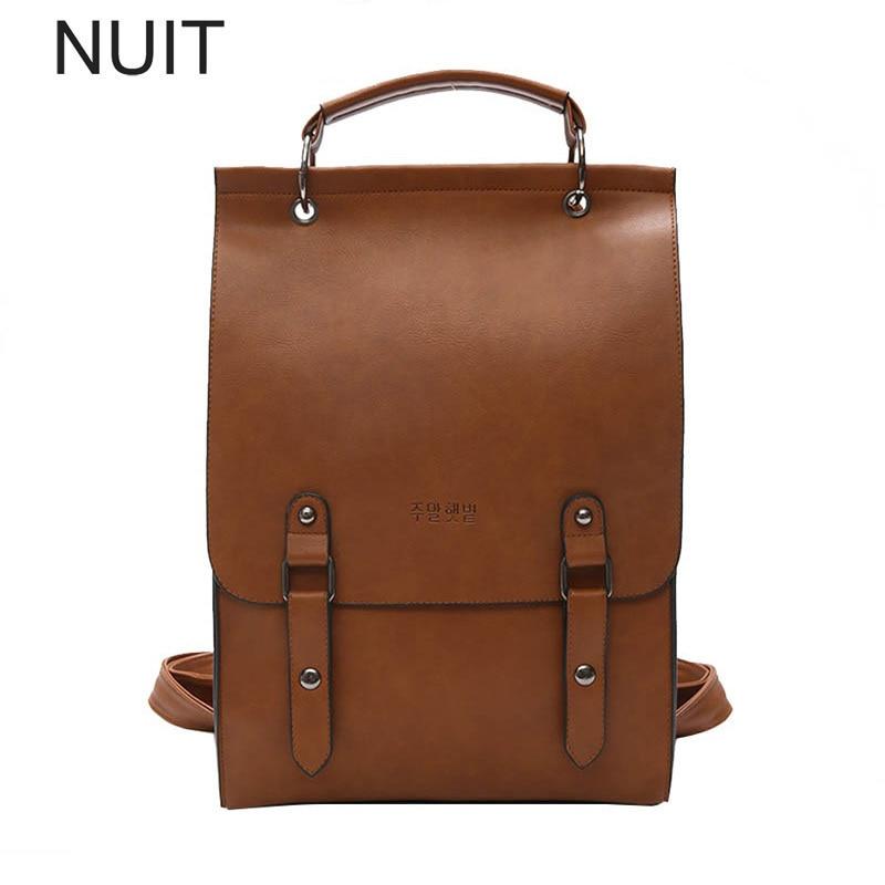 Women Backpacks PU Leather Backpack Bags Brands Style Shoulder Bag School Brand Bagpack Daypack For Women Female Mochila