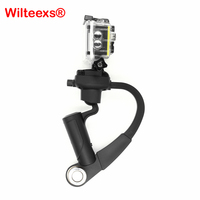 Black Mini Pro Handheld Stabilizer Steady Steadycam Bow Shape For Xiaomi Yi Camera Gopro Hero HD