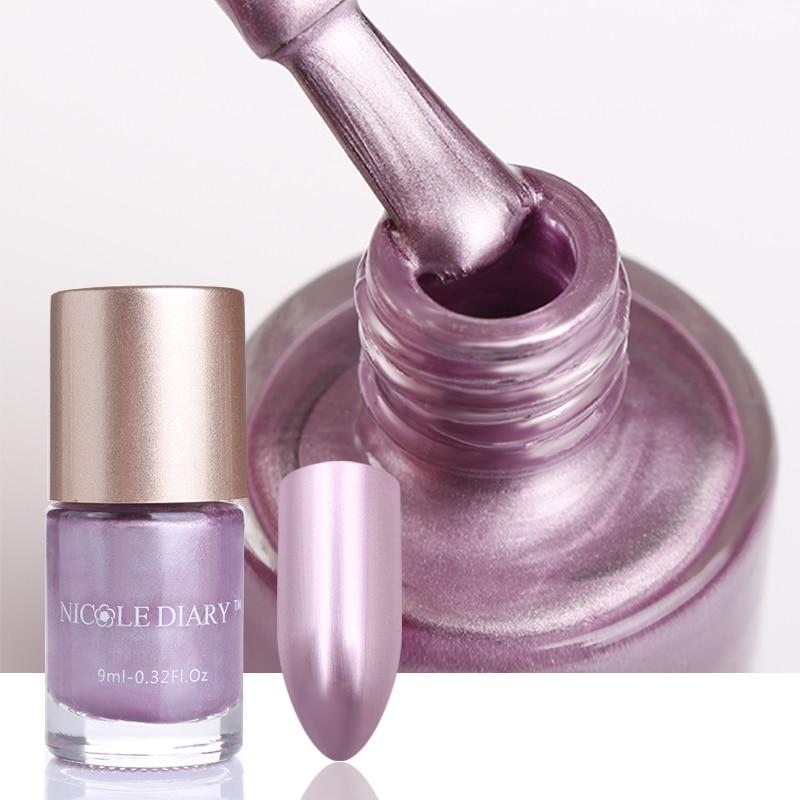 9ml NICOLE DIARY Metallinen kynsilakka Peilivaikutus Kiiltävä - Kynsitaide - Valokuva 6