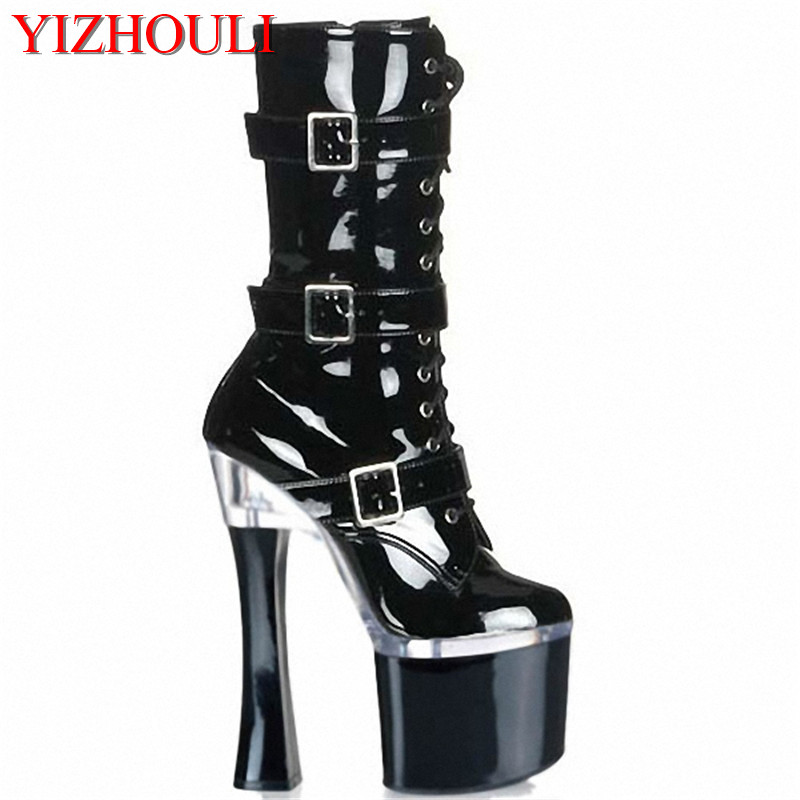 New fashion cool women s ankle boots sexy 18cm ultra high heels platform pumps womens shoes
