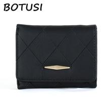 цены BOTUSI Lattice Pattern Coin Purses Money Bag Short Ladies Women Wallets Mini Wallet Purse Small Clutch Female Wallet Card Holder