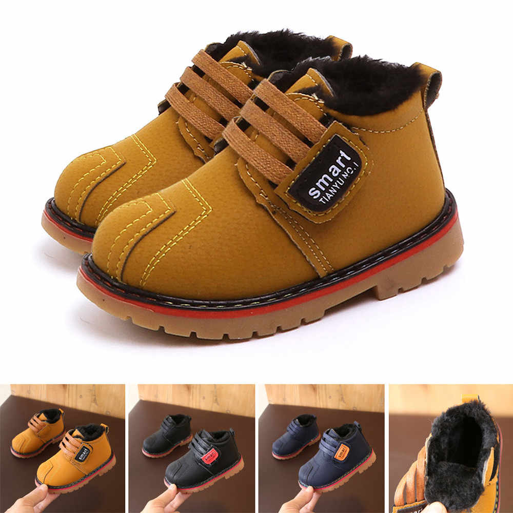 child snow boots shoes for girls boys boots fashion soft bottom baby girls boot 21-25 autumn winter child boots shoe