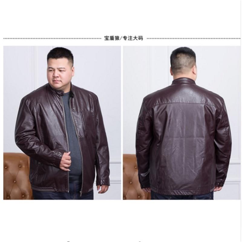 LONGHONGYU plus size 8XL 6XL 5XL 4X brand PU Motorcycle Leather Jackets Men, Autumn Winter Clothing,Male Casual black red Coats 1