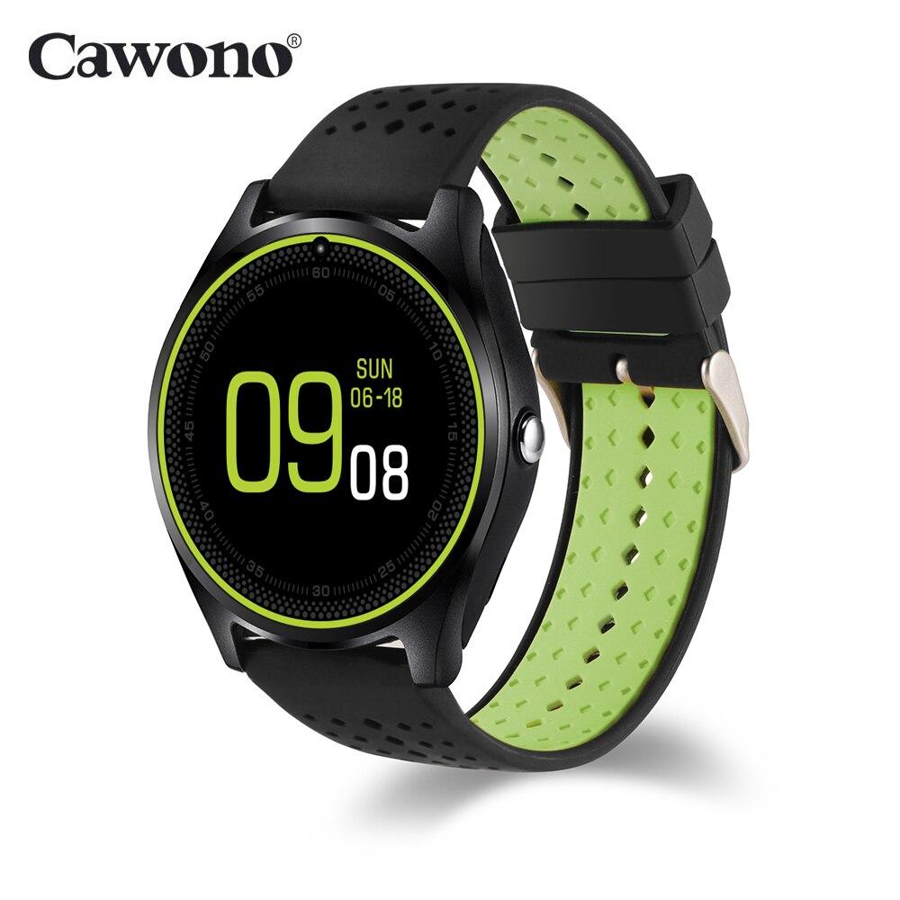 Cawono CW34 Astuto Della Vigilanza di Frequenza Cardiaca Inseguitore di Sport Orologio Carta di Sostegno Sim Bluetooth Handfree Musica Fotocamera Smartwatch PK A1 Y1 q8