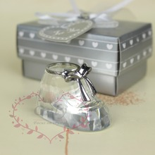 Free Shipping 12 pcs/lot Adorable Crystal Glass Shoes with Nice Gift Box Packing As Newly Bron Baby Shower Gifts
