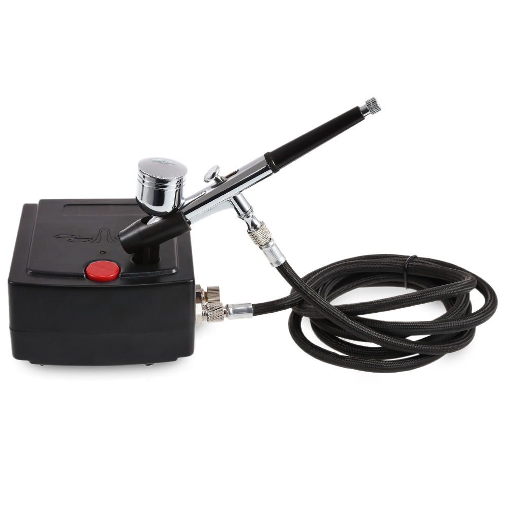 Dual Action Mini Airbrush Air Compressor Kit Art For Spray Art Paint Craft Cake Spray Model Air Brush Nail Tool Set Spray Gun
