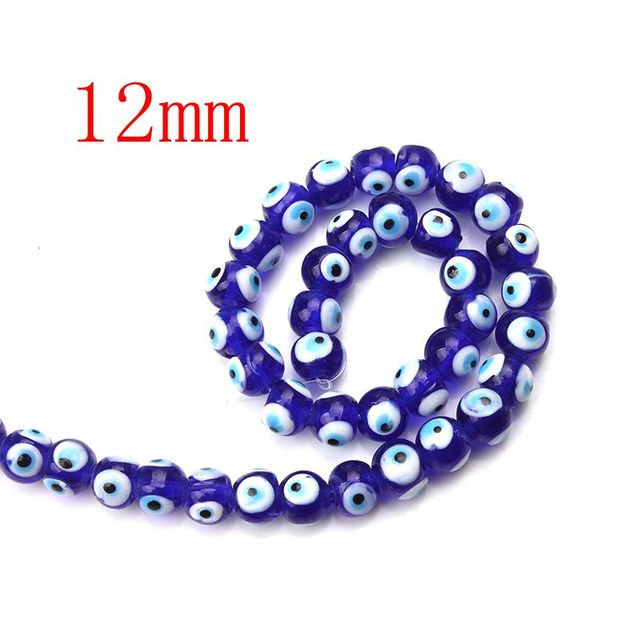 1 String 6/8/10/12mm Fashion Evil Eye Beads Blue Red Glass Round Beads for Bracelet Necklace Jewelry Making