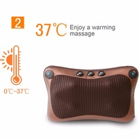 2017 Car Home Office 6 Heads Magnetic Therapy Electronic Neck Massager Neck Shoulder Back Waist Massage
