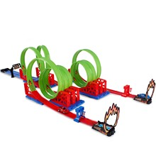 Roundabout Track Toy Model Cars Classic Car Birthday Gift For Kids Pista wheels Juguetes W5093