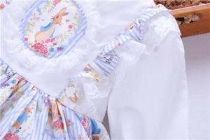 Image 5 - ฤดูใบไม้ผลิเด็กผู้หญิงชุด rufles แขนยาวสเปน VINTAGE LOLITA กระต่ายกระต่ายกระต่ายกระต่ายกระต่ายกระต่ายกระต่ายกระต่ายกระต่ายเด็กชุดเด็กเสื้อผ้าบูติก