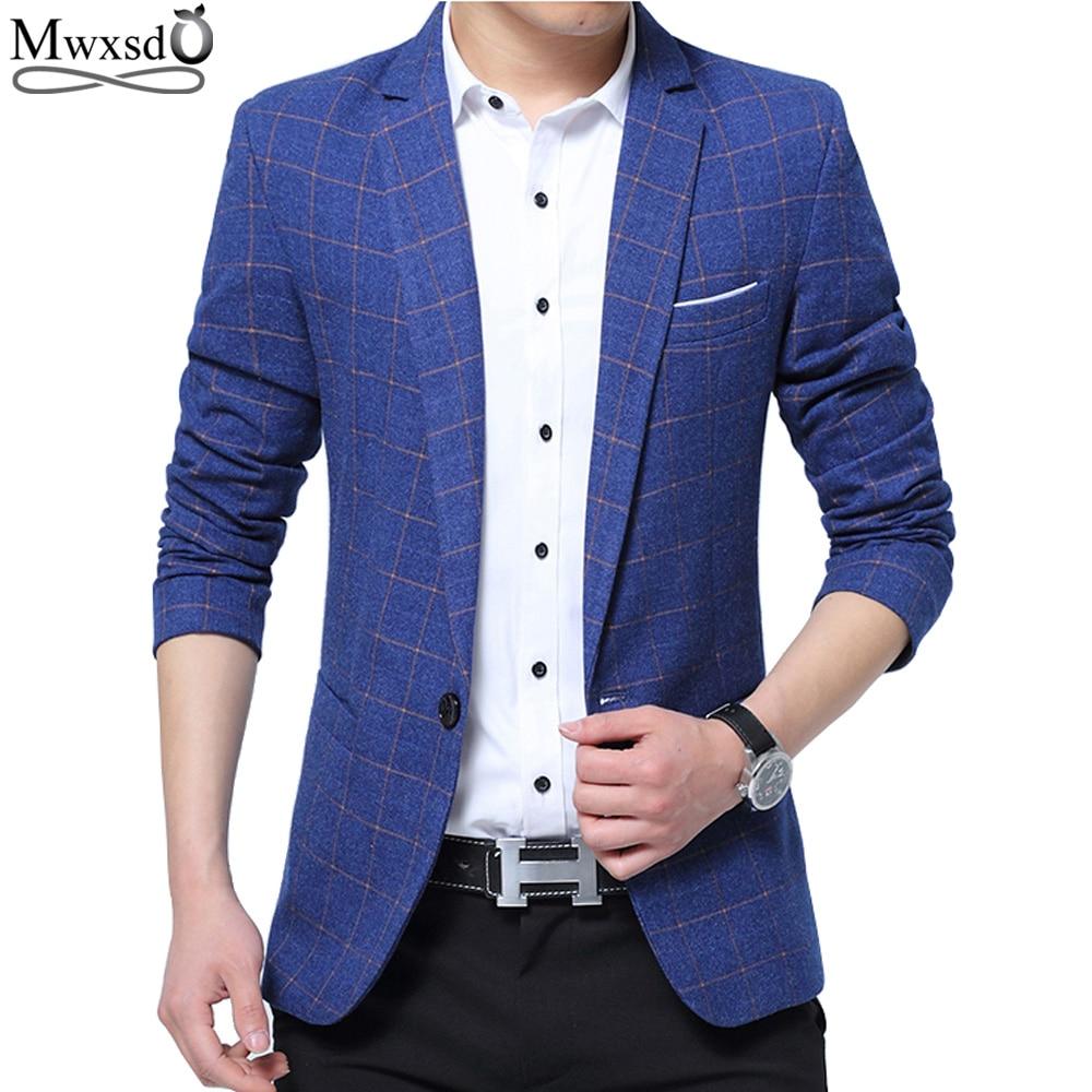 Mwxsd Brand Mens Fashion Blazer Casual Slim Fit Suit